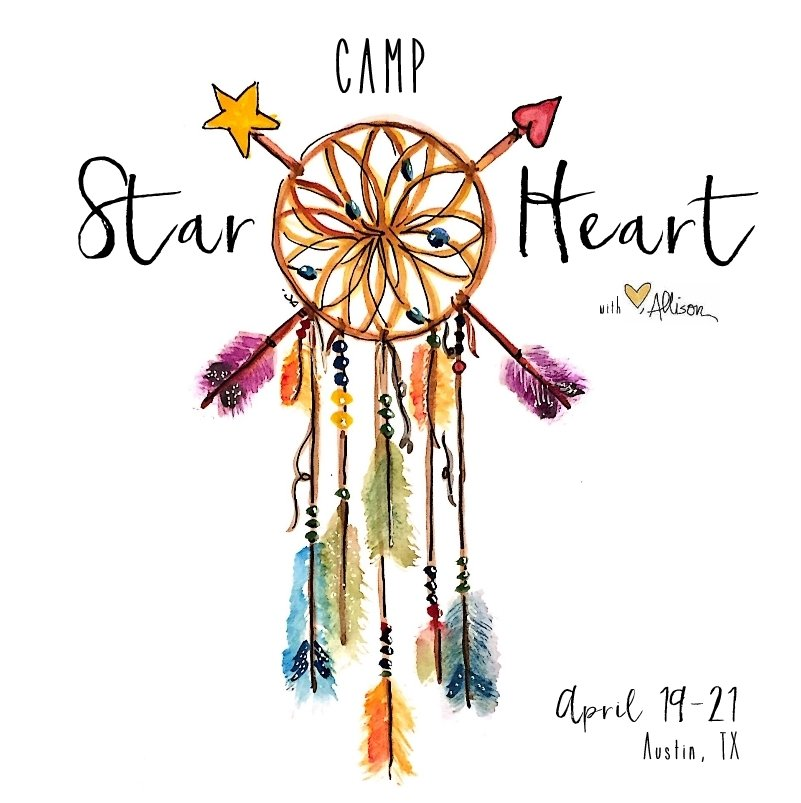 Camp Star Heart Square With Dates